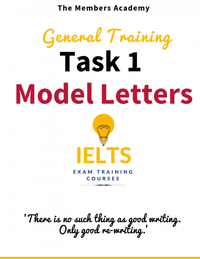 IELTS General Training Model Letters Cover