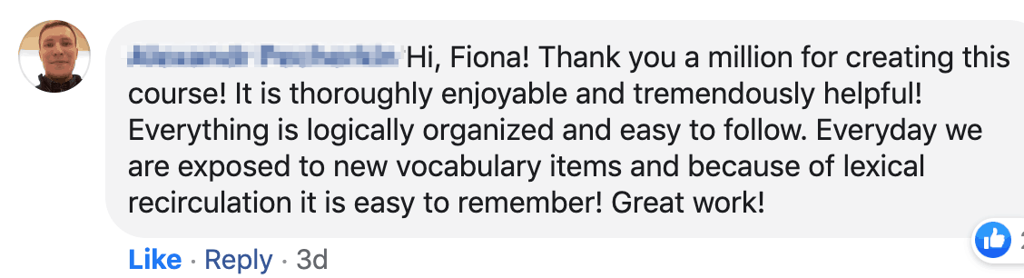 testimonial vocab course Alex