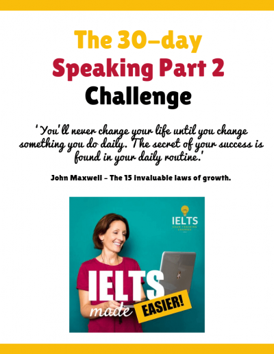 IELTS Speaking Part 2 30-Day Challenge