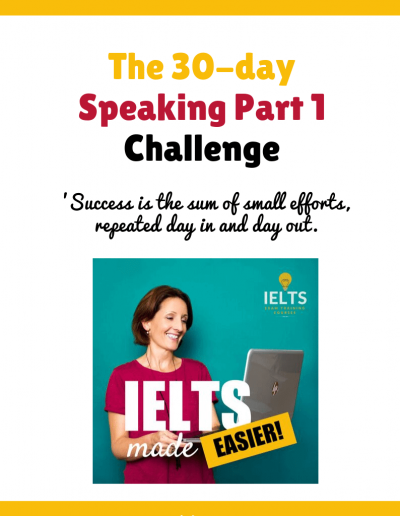 IELTS Speaking Part 1 30-Day Challenge