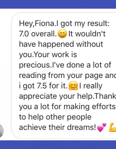 IELTS-Fiona Members Academy Reviews