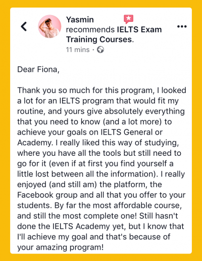 IELTS-Fiona Members Academy Reviews