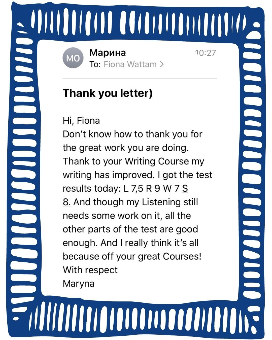 IELTS with Fiona reviews