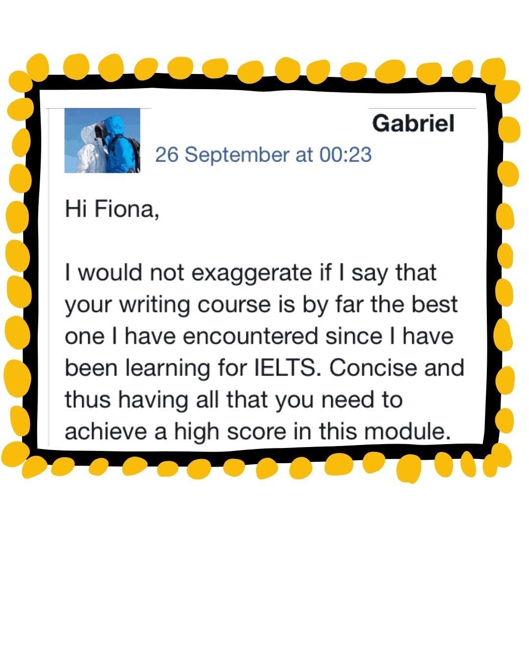 IELTS with Fiona reviews Gabriel